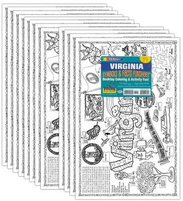 VA Symbols & Facts Funsheet Pack of 30  -