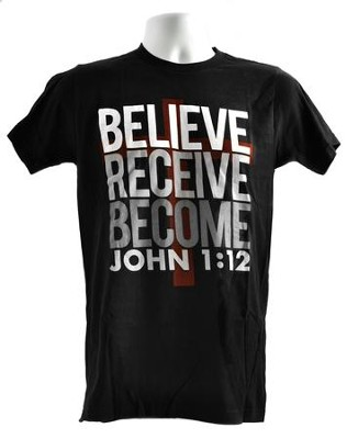 The Case for Christ: Believe. Receive. Become. T-Shirt, Large  -