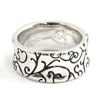 Purity Swirl Band Ring, Size 8  -