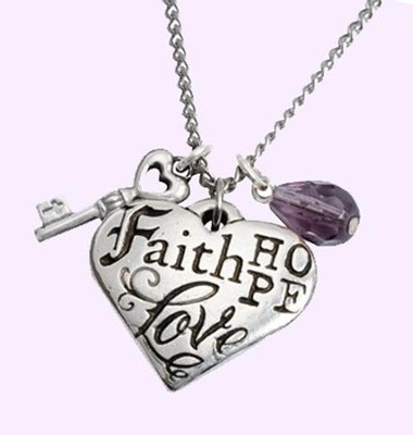 Faith, Hope, Love, 1 Corinthians 13:13 Pendant  -