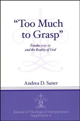 Too Much to Grasp: Exodus 3:13-15 and the Reality of God  -     By: Andrea D. Saner