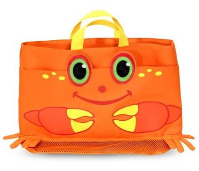Clicker Crab Beach Tote Bag  -