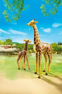 Playmobil Giraffe With Calf Accessory  -