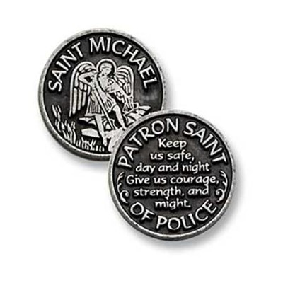 St. Michael, Patron Saint of Police, Pocket Token  -