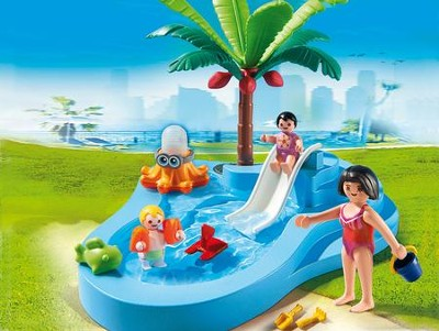 Playmobil Baby Pool With Slide  -