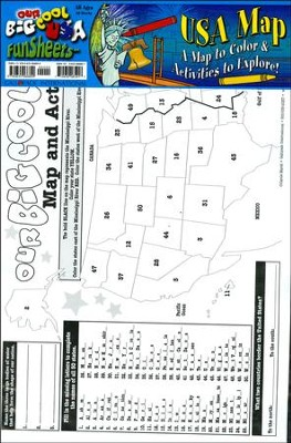 USA Map FunSheet Pack of 30  -     By: Carole Marsh