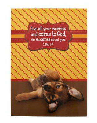 Give All Your Worries, Puppy Notepad  -