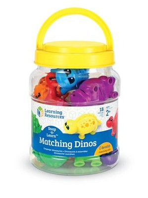 Snap-n-Learn Matching Dinos, 18 Pieces  -