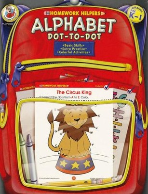 Alphabet Dot-to-Dot (PreK-1) Homework Helper   -