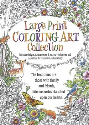 Large Print Coloring Art Collection  -