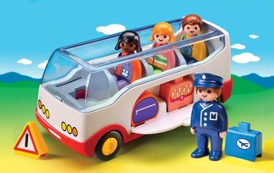PLAYMOBIL ® 1.2.3. Airport Shuttle Bus Playset   -