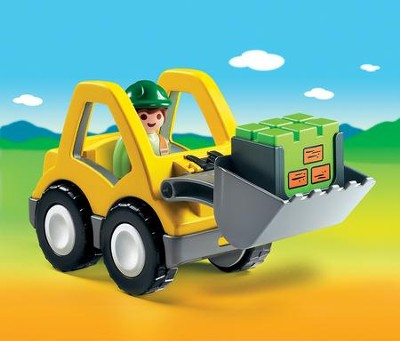 PLAYMOBIL ® 1.2.3 Excavator with Movable Shovel   -