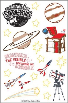Galactic Starveyors VBS: Theme Stickers, 10 sheets   -