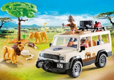 Safari Truck with Lions  -