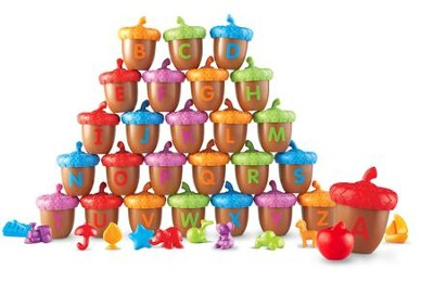 Alphabet Acorns Activity Set, 78 Pieces  -