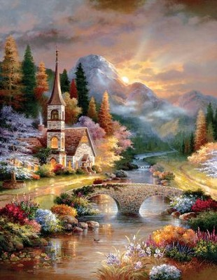 A Country Evening Service, 1000 Piece Jigsaw Puzzle   -