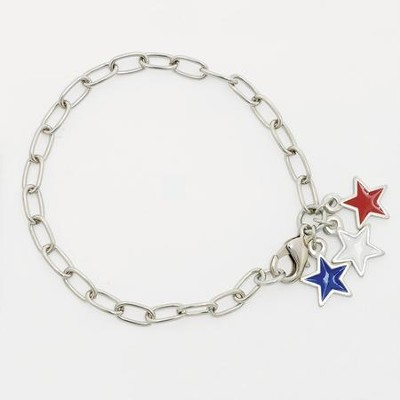 Red White and Blue Stars Bracelet  -