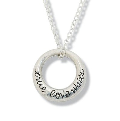 True Love Waits Circle Necklace  -