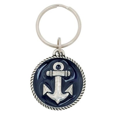 Anchor, Hope Is An Anchor For the Soul Keyring, Blue  -