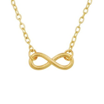 Mini Infinity Pendant, Gold Plated  -