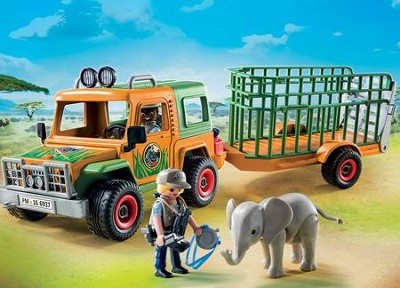 Ranger's Truck with Elephant  -