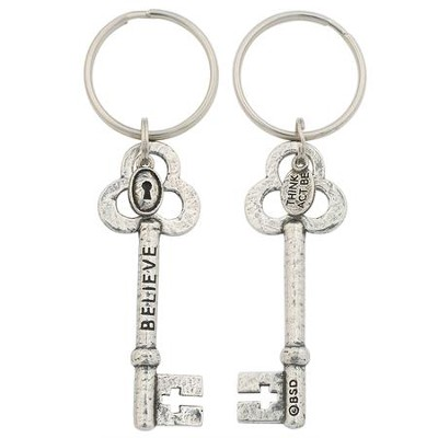 Believe Keyring - 100% Lead Free Pewter  -     By: Bob Siemon