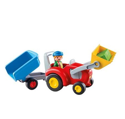 PlayMobil Tractor with Trailer  -