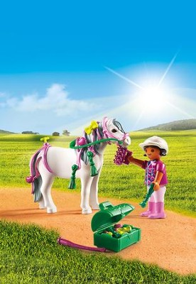 Playmobil Groomer With Heart Pony Accessory  -
