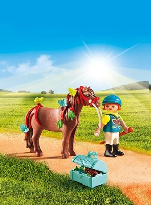Playmobil Groomer With Butterfly Pony Accessory  -