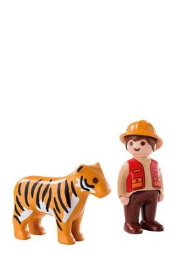 PlayMobil Gamekeeper with Tiger  -