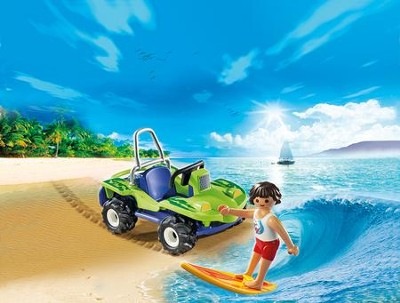 Surfer with Beach Quad  -