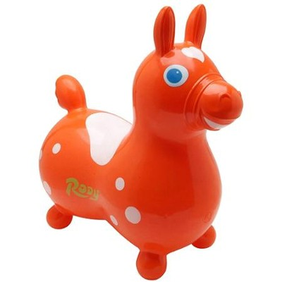 Rody Inflatable Hopping Horse, Orange   -