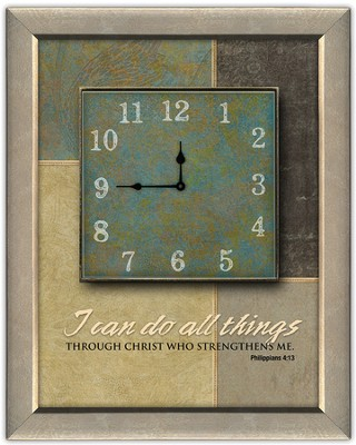 I Can Do All Things Through Christ Wall Clock  -