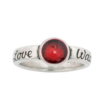 Love Waits, Red Ring, Small  -