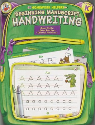 Beginning Manuscript Handwriting (K) Homework Helper   -
