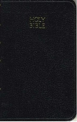 KJV Vest Pocket New Testament with Psalms, Black leatherflex  -