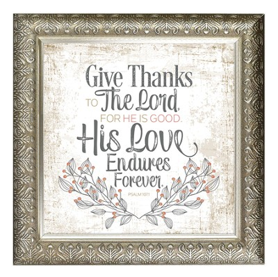 Give Thanks To the Lord Framed Decor   -