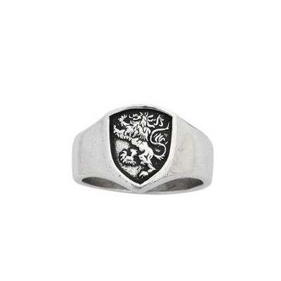 Lion Shield Men's Ring, Small  -