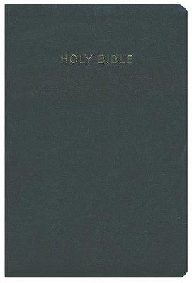 KJV Super Giant Print Reference Bible, Imitation leather, black, thumb indexed  -