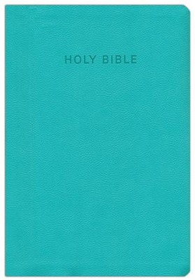 KJV Super Giant Print Reference Bible, flexisoft Turquoise, thumb indexed  -