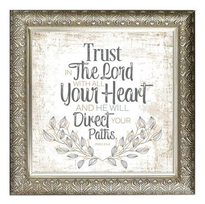 Trust In the Lord With All Your Heart Framed Decor   -