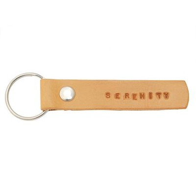 Serenity, Leather Keyring  -