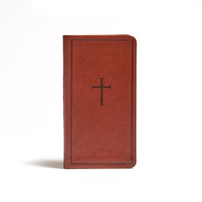 CSB Single-Column Pocket New Testament--soft leather-look, brown  -