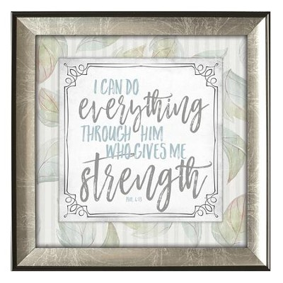 I Can Do Everything Through Him Framed Art  -