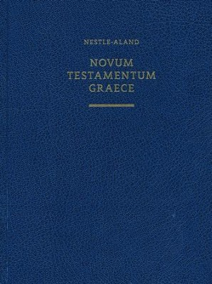 Novum Testamentum Graece, Nestle-Aland 28th Edition, wide margin  -