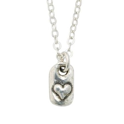 Heart Tablet Necklace  -