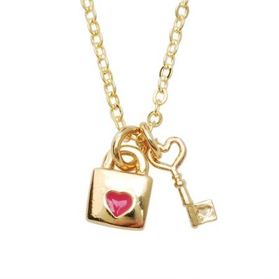 Lock and Key Necklace  -