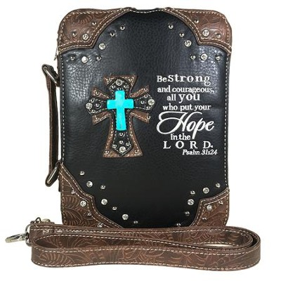 Hope In the Lord, Fashion Cross Bible Cover, Black  -