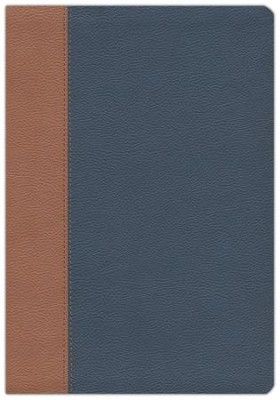 NKJV Amplified Parallel Large-Print Bible Flexisoft,  Blue/Brown  -
