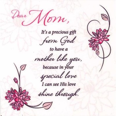 Dear Mom, It's A Precious Gift From God, Magnet  -